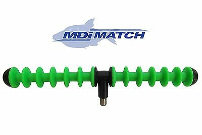MDI Match 12 Positon Feeder Fishing Rod Rest Green- Designed for All Tip Work
