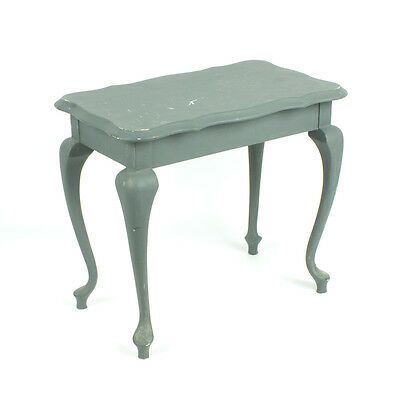 Vintage Queen Anne style wooden coffee side table shabby chic curved legs