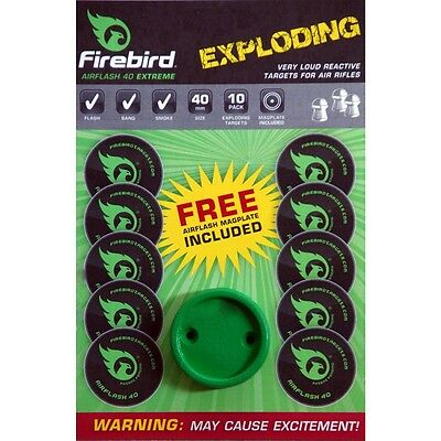 Firebird Air Flash reactive targets 40mm Green - 10 pack exploding targets