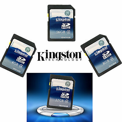 4GB 8GB 16GB 32GB Kingston SD SDHC Class 4 10 Memory Card for Camera GPS Tablet