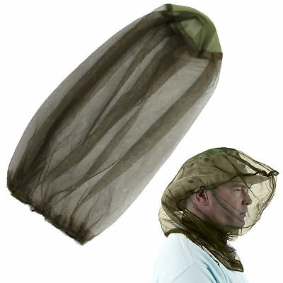 UK 2 x Midge Mosquito Insect Hat Bug Mesh Head Net Face Protector Travel Camping