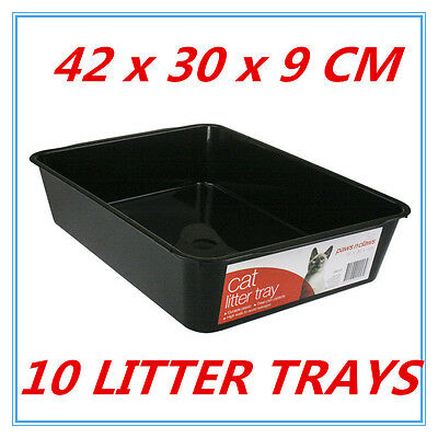 10 Cat KITTY Litter Tray Pet Kitten toilet Training BASIC SIMPLE Paws n Claws FW