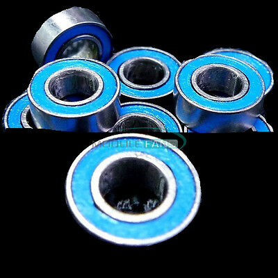 10PCS 4*8*3mm MR84RS MR84-2RS 4x8x3mm Rubber Sealed Ball Bearing Bearings Blue