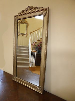 Vintage French Provincial Style Gold Gilt Carved Wood Floral Design Wall MIRROR