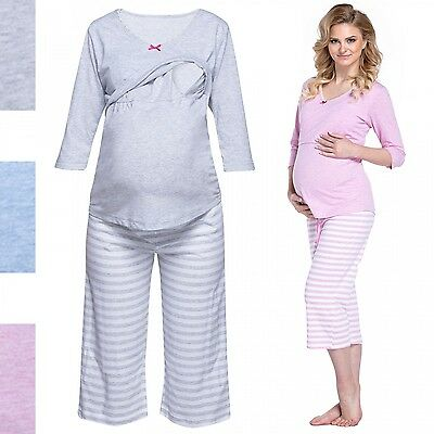 Happy Mama. Women's Maternity Top Nursing Breastfeeding Pyjamas Nightwear. 704p