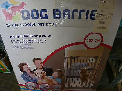 Dog barrier Gate Extra Strong 75cm to 84cm x 107cm