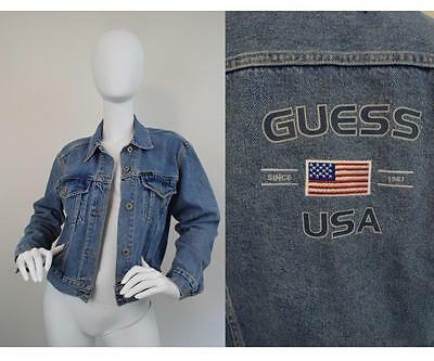 Vintage 80s 90s Guess Denim Jacket Jean Blue Womens Small