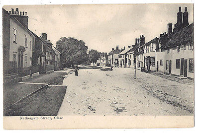 CLARE Suffolk, Nethergate Street, Postally Used Postcard 1905