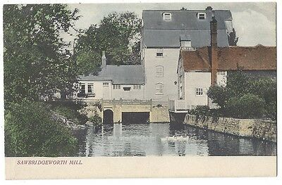 SAWBRIDGEWORTH Mill, Old Postcard by W Truswell, Unused