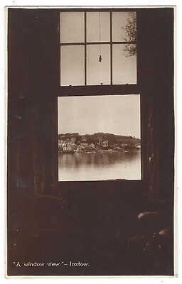 INSTOW View of the Town from a Window, RP Postcard Posted 1927, Renshaw Series