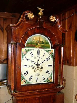 Victorian Oak, Mahogany & Inlaid 8 day Antique Longcase Grandfather Clock C1860