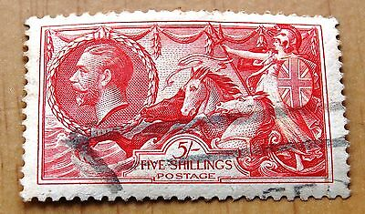 GB King George V 1934 Re-Engraved Five Shillings 5/- Seahorses Stamp Used