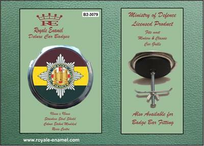 4TH ROYALE ENAMEL ROYALE CAR GRILL BADGE 7TH ROYAL DRAGOON GUARDS B2 3687