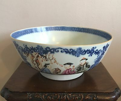 Chinese 18th Century Hand Painted Porcelain Bowl