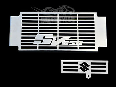 SUZUKI SV 650 S K3-K4 03-04 STAINLESS STEEL RADIATOR COVER w/ OIL COOLER GRILL