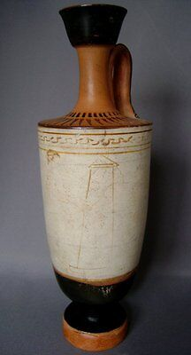 Ancient Greek Attic White Ground Lekythos : Tymbos Group Vase Antiquity
