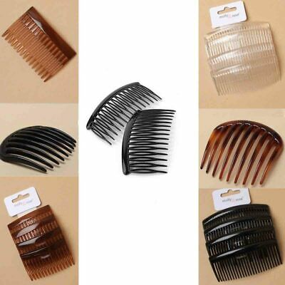 Side Comb Hair Style Bridal Clip Wide Teeth Clear Clamp Tort Grip Classic Goody