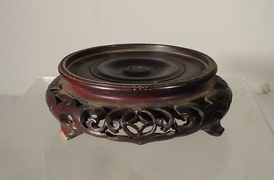 Antique CHinese Carved Hardwood Base Stand Hongmu Teak Mahogany Rosewood