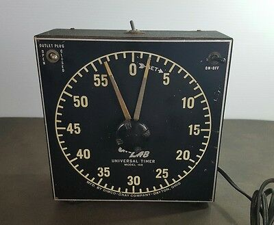 Vintage Gra-Lab Universal Darkroom Timer Model 168 Dimco-Gray Glow In The Dark