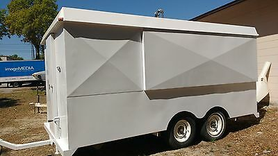 Commercial Food Concession Trailer-Nice Looking-3 Full Service Windows,All Steel
