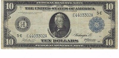 1914 $10 Large Size Federal Reserve Note