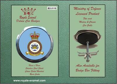 Royale Military Car Grill Badge Fittings RAF DEFENCE SURVIVAL EXTRACTION B2.3110