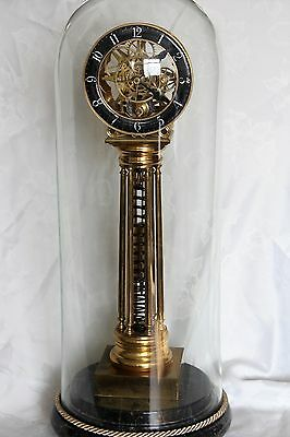 Vintage torsion spring skeleton clock