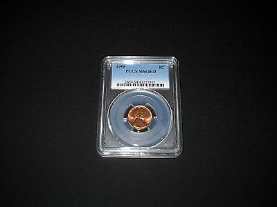 1959 Red 1 Cent Lincoln Penny