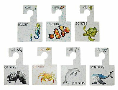 Katies Playpen Baby Clothes Wardrobe Dividers Organisers - Under The Sea - 7 Pk