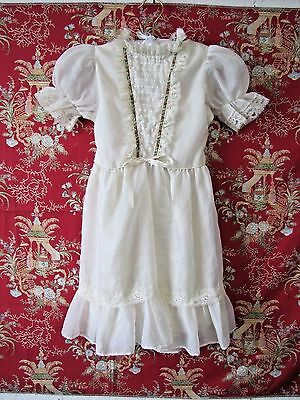 Vintage White Organdy Little Girl Dress Size 5