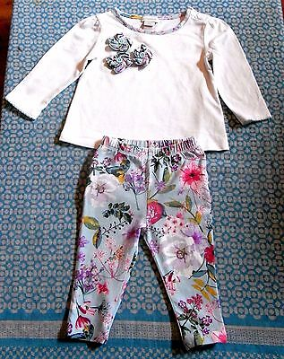 Monsoon baby girl 2 pieces floral set / outfit ~ Size 6-9 months