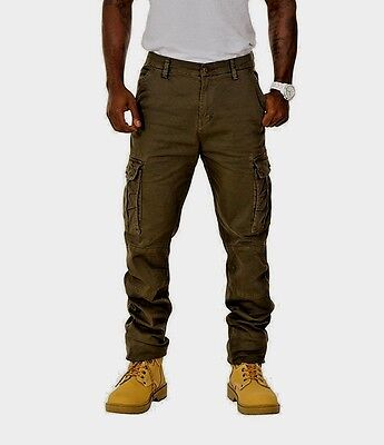 Men's Slim Fit Cargo Trousers  Green Cargo pants