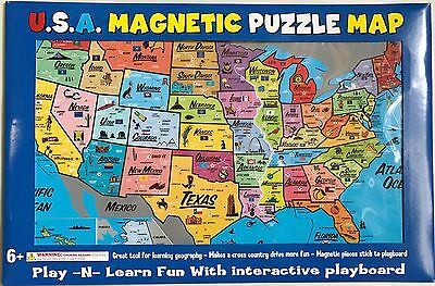 Us Wall Map - Magnetic us wall map