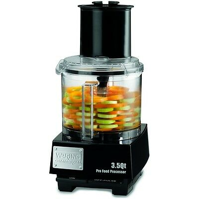 Waring 3.5 Quart Food Processor 1 HP with S-Blade & Discs - WFP14S