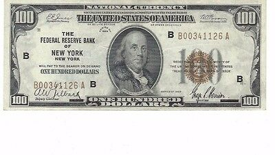 1929 $100 Federal Reserve Bank of New York, New York Note