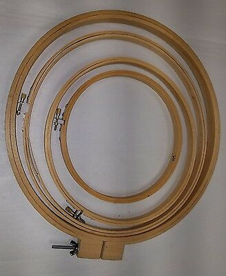 Old Embroidery Hoops Lot of 4