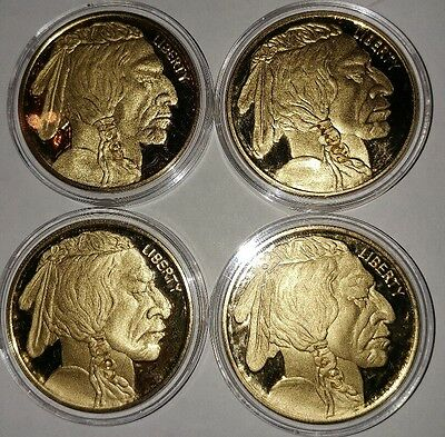 Lot of 4 2011 $50 Buffalo Gold Coin Proof Uncirculated Copy - Indian Head Design