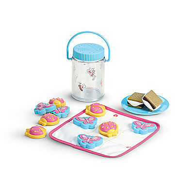 "American Girl BT BITTY TWIN CAMPING PLAY SET for 15"" Baby Dolls Food Smores NEW"