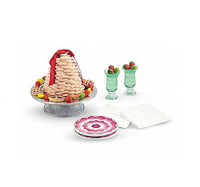 """American Girl FELICITY TREAT SET for 18"""" Dolls Retired Party Accessories NEW*"""