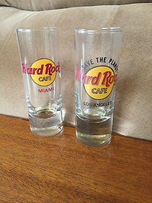 "Hard Rock Cafe Miami & Los Angeles 4"" Tall Shooter Shot Glass"