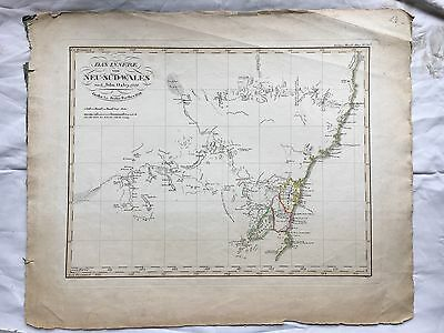 New South Wales Camden Australia - Antique Map 1822 John Oxley - Sydney Nsw