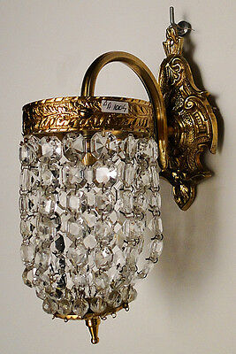 Antique french empire style bronze and cristal sconce