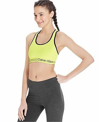 543d5394bc New Calvin Klein Performance Women s Reversible Racerback Sports Bra  PFYT1051