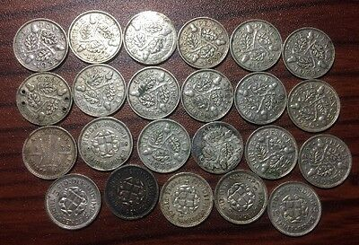 Silver Three Pence Coins Lot Great Britain (23 Total)