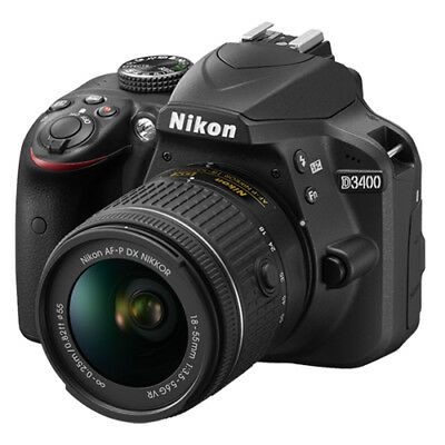 Nikon D3400 24.2 MP Digital SLR Camera + 18-55mm AF-P DX f/3.5-5.6G VR Lens