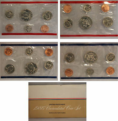 1986 US Mint Set (OGP) 10 coins