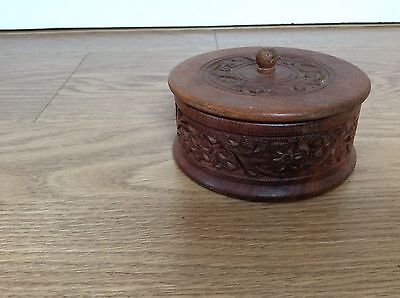 Carved Wooden Lidded Box