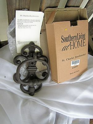 Southern Living At Home Black Iron Door Knocker St. Charles  #41099 Retired NIB