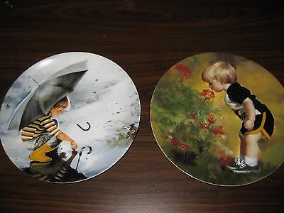 Donald Zolan Collector Plates - Lot of 2  ( children's collection)