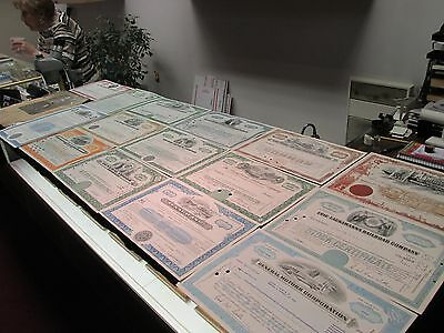 Vintage Stock Certificates Lot Gold Mining + Railroad + Dow Chemical + MORE RARE